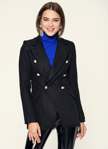 Loves You Yün Karışımlı Gabardin Blazer Ceket Siyah